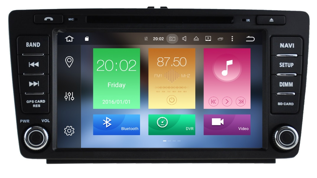 LM J005 GPS OEM OCTAVIA 5 mod 05>12 ANDROID 8, 8core