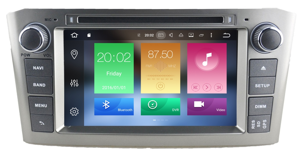 LM J025 GPS OEM AVENSIS 03>08 ANDROID8/8core/GPS/DVD