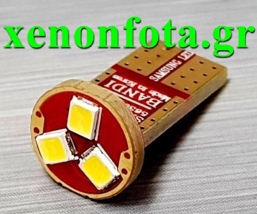Led T10 3 SMD Ψυχρό Λευκό Samsung Made in Korea Κωδικός XF512
